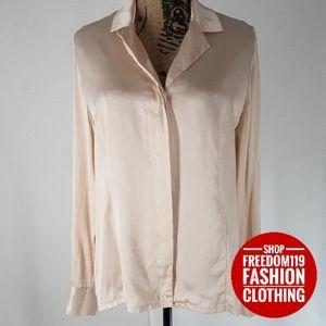 Charter Club | 100% Silk Long Sleeve Blouse (14)